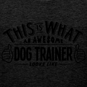 awesome dog trainer looks like pro desig - Men's Premium Tank Top