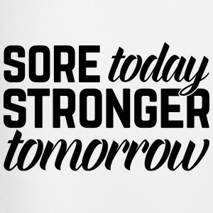 Stronger Tomorrow Gym Quote T-shirts - Mannen voetbal shorts