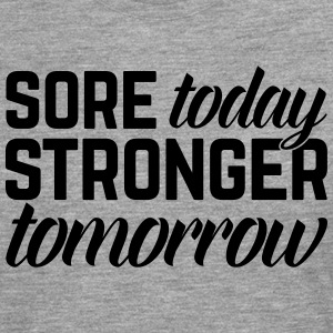 Stronger Tomorrow Gym Quote Vêtements de sport - T-shirt manches longues Premium Homme