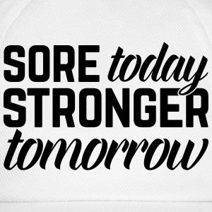 Stronger Tomorrow Gym Quote Tabliers - Casquette classique