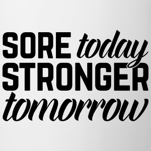 Stronger Tomorrow Gym Quote Tabliers - Tasse
