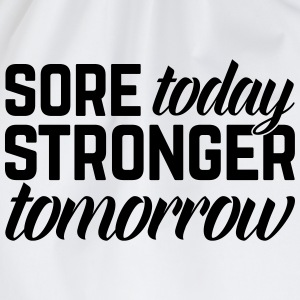 Stronger Tomorrow Gym Quote T-Shirts - Turnbeutel