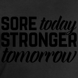 Stronger Tomorrow Gym Quote Topper - Sweatshirts for menn fra Stanley & Stella
