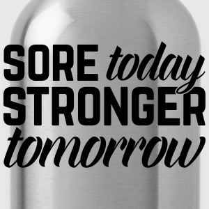 Stronger Tomorrow Gym Quote Topper - Drikkeflaske