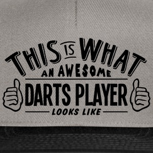 awesome darts player looks like pro desi - Snapback Cap