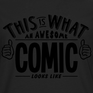 awesome comic looks like pro design - Men's Premium Longsleeve Shirt