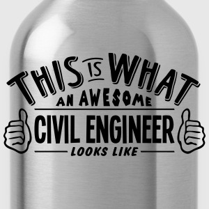 awesome civil engineer looks like pro de - Water Bottle
