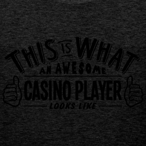 awesome casino player looks like pro des - Men's Premium Tank Top