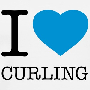 I LOVE CURLING - Männer Premium T-Shirt