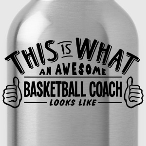 awesome basketball coach looks like pro  - Water Bottle