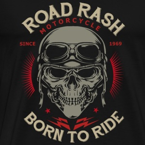 SSD Road Rash Motorcycle Biker born to ride RAHMENLOS Design red old dark Pullover & Hoodies - Männer Premium T-Shirt