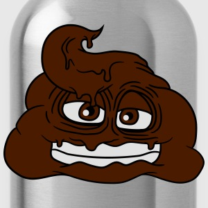 Grin shit kacke heap kot smell disgusting comic ca T-Shirts - Water Bottle