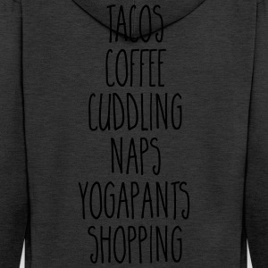 Tacos & Coffee Funny Quote Toppar - Premium-Luvjacka herr