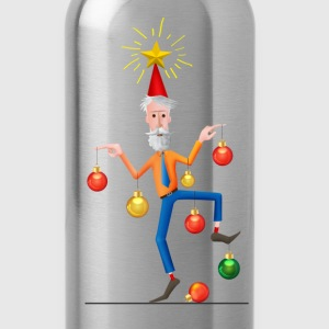 Merry Christmas Tree Man T-Shirts - Water Bottle