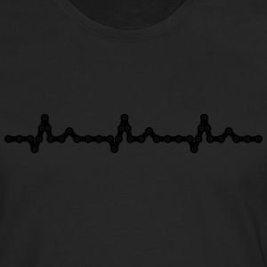 Bicycle Heartbeat Chain Camisetas - Camiseta de manga larga premium hombre