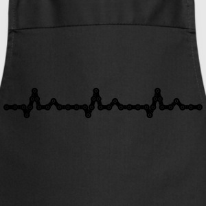 Bicycle Heartbeat Chain T-Shirts - Cooking Apron