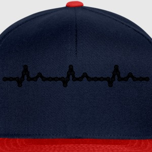 Bicycle Heartbeat Chain Tee shirts - Casquette snapback
