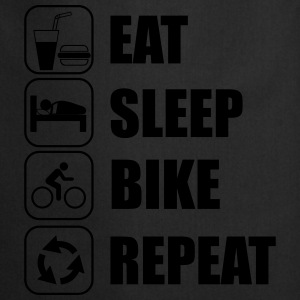 Eat,sleep,bike,repeat Cycling T-shirt - Cooking Apron