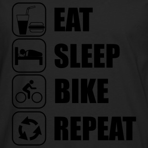 Eat,sleep,bike,repeat Cycling T-shirt - Men's Premium Longsleeve Shirt