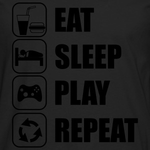 Eat,sleep,play,repeat geek gamer gaming nerd - Men's Premium Longsleeve Shirt