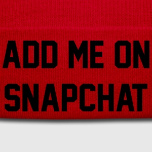 Add me on snapchat T-Shirts - Winter Hat