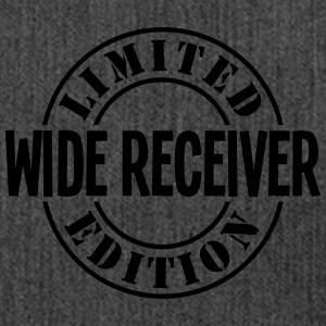 wide receiver limited edition stamp - Shoulder Bag made from recycled material