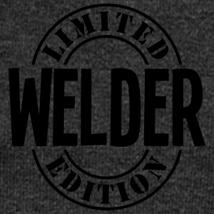 welder limited edition stamp - Women's Boat Neck Long Sleeve Top