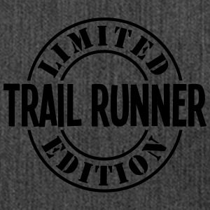 trail runner limited edition stamp - Shoulder Bag made from recycled material