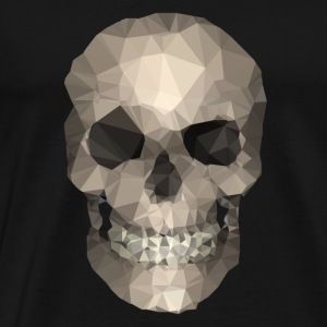 Polygons skull goldy Tops - Mannen Premium T-shirt