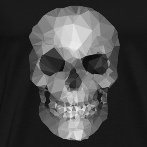 Polygons skull Tops - Mannen Premium T-shirt