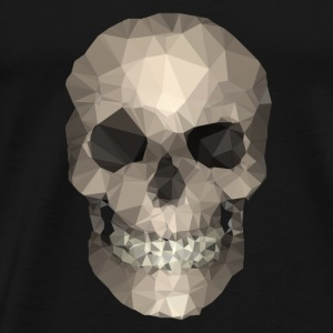 Polygons skull goldy Babybody - Premium T-skjorte for menn