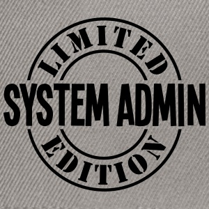 system admin limited edition stamp - Snapback Cap