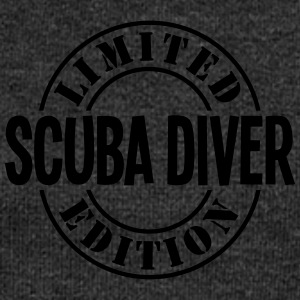 scuba diver limited edition stamp - Women's Boat Neck Long Sleeve Top
