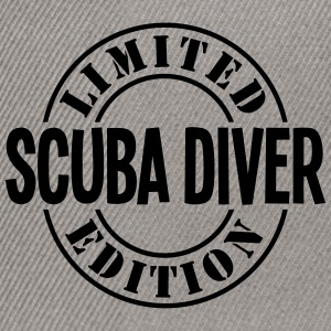 scuba diver limited edition stamp - Snapback Cap