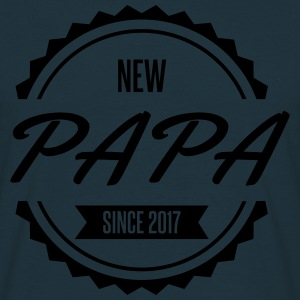 new papa since 2017 naissance Tabliers - T-shirt Homme
