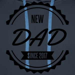 new dad since 2017 Tabliers - Sweat-shirt à capuche Premium pour hommes