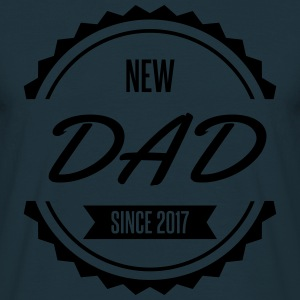 new dad since 2017 Tabliers - T-shirt Homme