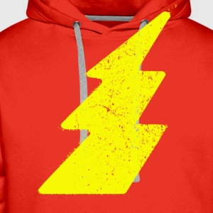 Vintage Lightning Flash - Men's Premium Hoodie
