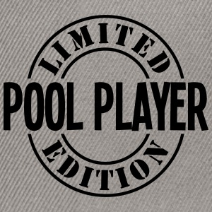 pool player limited edition stamp - Snapback Cap