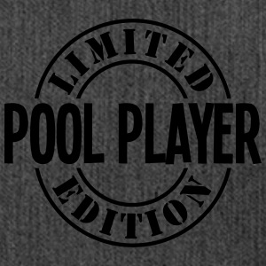 pool player limited edition stamp - Shoulder Bag made from recycled material
