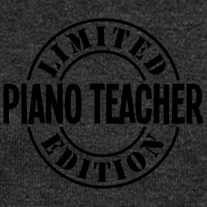 piano teacher limited edition stamp - Women's Boat Neck Long Sleeve Top