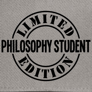philosophy student limited edition stamp - Snapback Cap