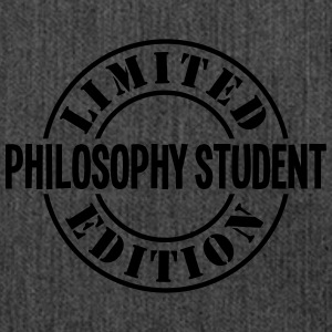 philosophy student limited edition stamp - Shoulder Bag made from recycled material