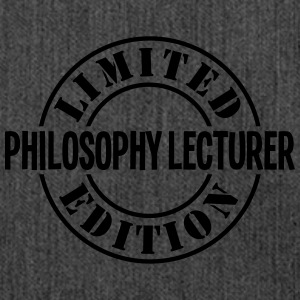 philosophy lecturer limited edition stam - Shoulder Bag made from recycled material