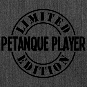 petanque player limited edition stamp co - Shoulder Bag made from recycled material