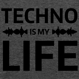 techno is my life house Club beat DJ Musik Bluzy - Tank top damski Bella