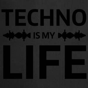 techno is my life house Club beat DJ Musik T-skjorter - Kokkeforkle