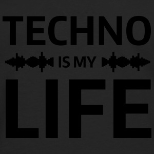 techno is my life house Club beat DJ Musik Tee shirts - T-shirt manches longues Premium Homme
