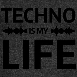 techno is my life house Club beat DJ Musik Camisetas - Sudadera con escote drapeado mujer