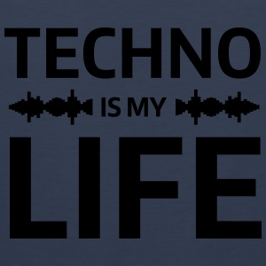 techno is my life house Club beat DJ Musik Tröjor - Premiumtanktopp herr
